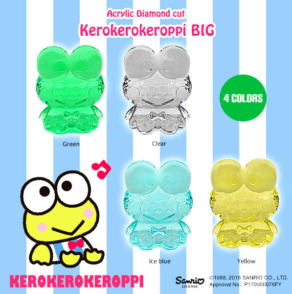 ACRYLIC DIAMOND CUT KERO KERO KEROPPI BIG