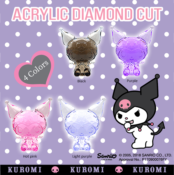 ACRYLIC DIAMOND CUT KUROMI BIG