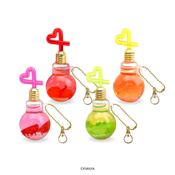 Light bulb juice oil charm